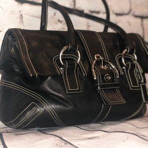 Black soft leather Coach Handbag